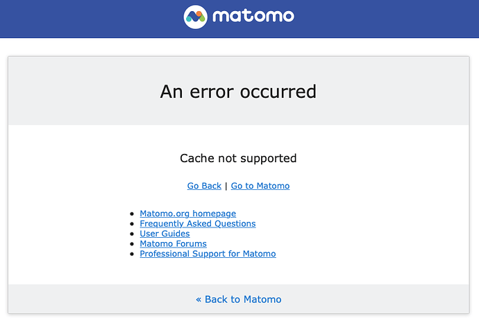 Cache-not-supported