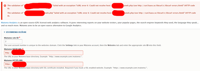 The validation of failed with an exception