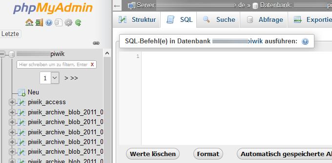 phpMyAdmin-SQL